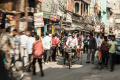 Morning on a street  in Old Delhi, India Stock Image
