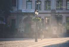 Morning streets of Lviv city Royalty Free Stock Image