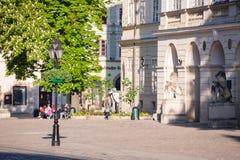 Morning streets of Lviv city Stock Image