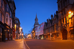 Morning streets of Oxford. Royalty Free Stock Photography