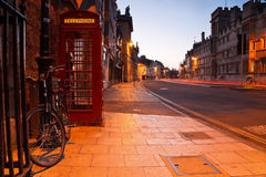 Morning streets of Oxford. Royalty Free Stock Image