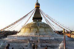 Morning and stupa Stock Image