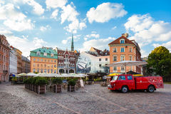 Morning summer Cathedral Square in the old city of Riga, Latvia Royalty Free Stock Photos