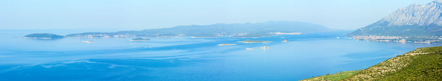 Morning summer Korcula Island panorama (Croatia) Royalty Free Stock Image