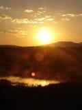 Morning Sun. Sunrise at Tetons National Park Stock Image