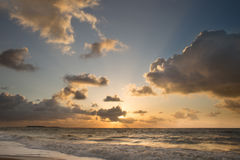 Morning sun on the beach Royalty Free Stock Photography