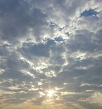 Morning Sun. Beautiful morning sun breaking though clouds Royalty Free Stock Photos