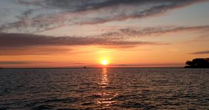 Morning Sun, Lake Michigan horizon in Chicago.