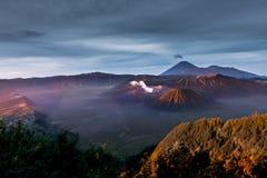 Morning sun light on Bromo volcano Royalty Free Stock Photo