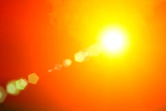 Morning sun light orange hot zone. The morning of the day, one of the bright red sunlight shines beautifully vector illustration