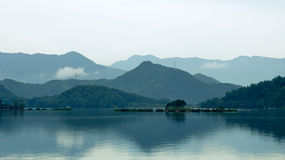 Morning at Sun moon lake ,Taiwan Stock Photo