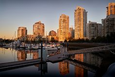 Yaletown Dawn, Vancouver Royalty Free Stock Photo