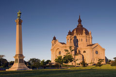 Morning sun on Saint Paul's Cathedral. Saint Paul, Minnesota, USA Royalty Free Stock Photography