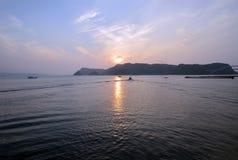 The morning sun of sea Stock Image