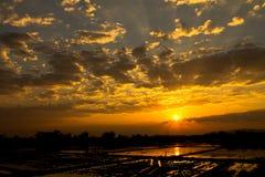 Morning sun shine. In Mae Sai,Thailand Stock Photo
