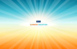 Morning sun shines in the sky in summer vacation. In the season Royalty Free Stock Images