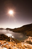 The morning sun shining on the bay. Turkey. tinted Royalty Free Stock Image