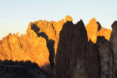 Morning Sun on Smith Rock Oregon Royalty Free Stock Photos