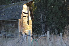 Morning Sun on Vintage Barn Royalty Free Stock Photo