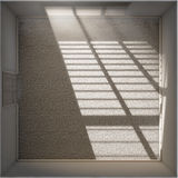 Morning Sunlight Empty Room Stock Image