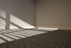 Morning Sunlight Empty Room Royalty Free Stock Photos