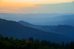 Morning sunlight in mountains Royalty Free Stock Photos