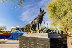 Morning sunny view of the K9 Police Service Dog Memorial Park