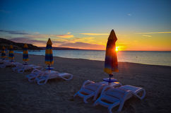 Morning Sunrise Albena Beach Bulgaria Sea Stock Photos