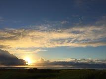 Sunrise on beach royalty free stock image