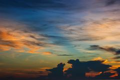 Morning sunrise and beautiful sky Stock Images