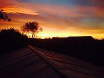 Morning sunrise. Canada scenery landscape stock photo