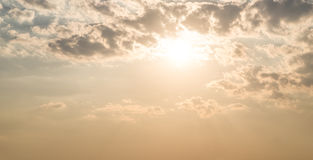 Morning sunrise. Morning sunrise and cloudy sky in dramatic tone royalty free stock images