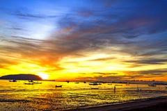 Morning sunrise folkways Stock Image