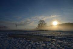 Morning sunrise after a freezing night Stock Photo