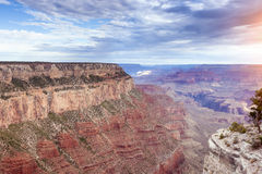Morning Sunrise Hour at Incredible Grand Canyon.Sunlight Effect Royalty Free Stock Photos