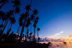 Morning sunrise at Maiga Islandof Sabah, Borneo. Royalty Free Stock Image