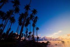 Morning sunrise at Maiga Islandof Sabah, Borneo. Stock Photos