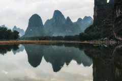 The morning sunrise over li river Royalty Free Stock Photo
