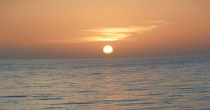 Morning sunrise over the Pacific. Ocean Royalty Free Stock Photo