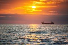 Morning sunrise over sea Stock Photography