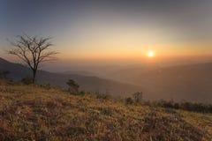 Morning before sunrise, Phu Lom Lo, Loei Stock Image
