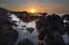Morning sunrise Portwrinkle Cornwall Stock Photography