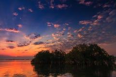 Morning sunrise reflection on a lake Royalty Free Stock Photo