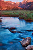 A Morning Sunrise In Rocky Mountain National Park. Rocky Mountain National Park in Colorado comes alive at sunrise during summer stock photography