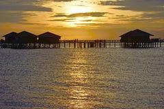 Morning sunrise in Sipadan village Royalty Free Stock Photo