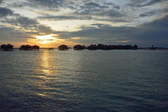 Morning sunrise in Sipadan village, Mabul-Sipadan Stock Images