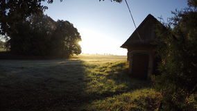 Morning sunrise in summer end village. Timelapse 4K. Morning sunrise in summer end village. Lithuania,  Timelapse 4K stock video