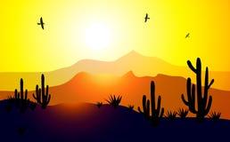 Morning Sunrise Valley (Arizona)-Vector Royalty Free Stock Images
