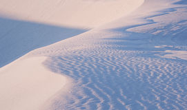 Morning Sunshine over the White Sands Royalty Free Stock Photography
