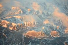 Morning sunshine on Siberia no man area Royalty Free Stock Images